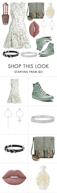 """""""a date in the summer"""" by gwen-morgan ❤ liked on Polyvore featuring Giambattista Valli, Converse, Anne Sisteron, John Hardy, Patricia Nash, Lime Crime and Kat Von D"""