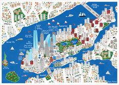 New York City Map | Jamie Malone - L'Affiche Moderne