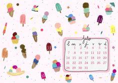 imprimible: calendario julio | milowcostblog♥
