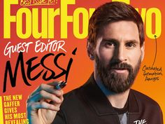 Read more about my hand lettering commission for FourFourTwo Magazine Messi issue - https://ruthrowland.co.uk/lettering-for-four-four-two-magazine-messi-issue #messi #fourfourtwomagazine #handlettering #ruthrowland #letteringartist