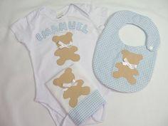 Kit Body  Urso azul