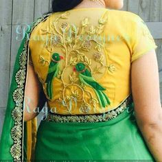 Latest Blouse Back Neck Designs - The handmade craft Blouse Back Neck Designs, Fancy Blouse Designs, Sari Blouse Designs, Bridal Blouse Designs, Blouse Styles, Indie, Bollywood, Blouse Models, Work Blouse