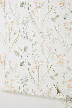 Alpine Botanical Wallpaper by Anthropologie in Assorted, Wall Decor Botanical Bedroom, Botanical Wallpaper, Of Wallpaper, Flower Wallpaper, Designer Wallpaper, Pattern Wallpaper, Glitter Wallpaper, Large Print Wallpaper, Botanical Decor