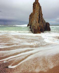 Rainy rainy day at the Mexota beach in #Asturias, #Spain