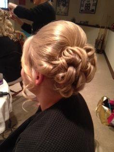 wedding hair, updo, bridal curls
