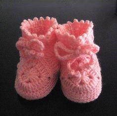 Botines para bebe a crochet Zapatos Tejidos Para Bebe dff68eeb536a8