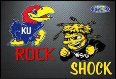 Rock and shock Kansas Basketball, Basketball Shorts Girls, Basketball Schedule, Basketball Goals, Adidas Basketball Shoes, Wsu Shockers, Wichita State, University Of Kansas, It's Going Down