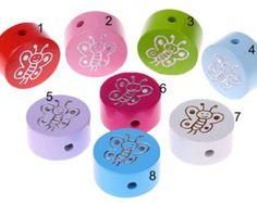 Wood beads 8/5 mm 50 pcs by Toysforchildren on Etsy