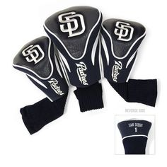 Team Golf San Diego Padres Contour Sock Head Covers 3-Pack - Golf Equipment, Collegiate Golf Products at Academy Sports
