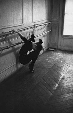 Calling Ms Hepburn to the Barre. Paris. 1956.