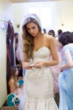 La Gartier bride Katherine Webb on her wedding day.