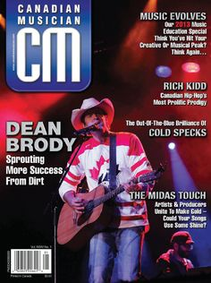 Dean on the cover of Country Musician magazine, January 2013.