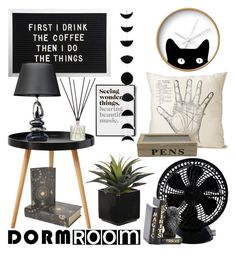 """""""Dorm Room"""" by jadedflower ❤ liked on Polyvore featuring interior, interiors, interior design, home, home decor, interior decorating, Keystone, Dot & Bo, The Rise and Fall and Connock London"""