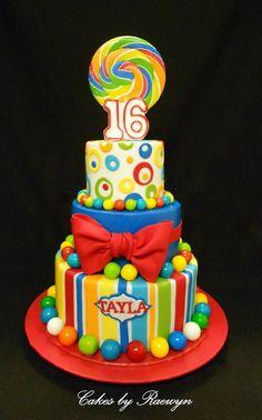 Lolly Birthday Cake