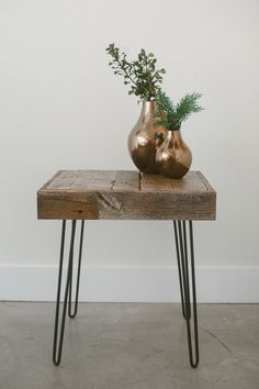 Reclaimed Wood Side Table - The Inaugural Collection