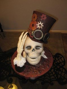Ghost of Steampunk Past cake