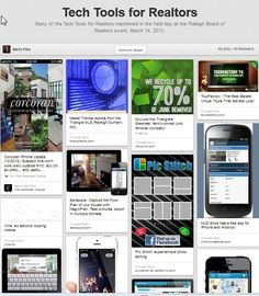Tech tools to make a Realtor's job easier.  See live Pinboard at www.pinterest.com/resnc