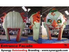 Inflatable Clown Arch, Door Facade