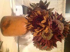 Hooked sunflowers
