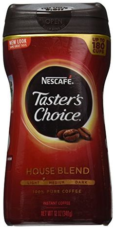 Nescafe Taster's Choice Instant Coffee, 12 Ounce -- Check this awesome product by going to the link at the image. (This is an affiliate link and I receive a commission for the sales) Tasters Choice, Real Coffee, Coffee Coffee, Nescafe, Instant Coffee, Coffee Drinks, Drinking Tea, Coffee Beans, Healthy Drinks