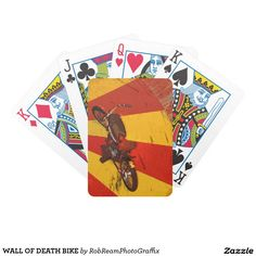 WALL OF DEATH BIKE BICYCLE PLAYING CARDS