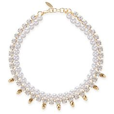 Joomi Lim - Baroque Punk Pearl Necklace (4.646.250 IDR) ❤ liked on Polyvore featuring jewelry, necklaces, pearl charm necklace, pearl necklace, charm necklace, skull jewelry and swarovski crystal necklace