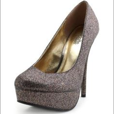 "Multi Glitter Heels Charlotte Russe ""Lakie"" Multi Glitter Heels, size 6 with box. Worn once. Charlotte Russe Shoes Heels"