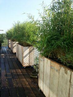GISS design - Steigerhouten plantenbak op wielen