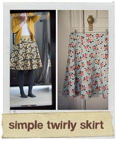 Simple Twirly Skirt