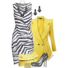 Zebra Print Dress, created by sassafrasgal on Polyvore