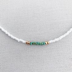 White beaded choker with gold and turquoise boho choker Beaded Choker Necklace, Seed Bead Necklace, Seed Bead Jewelry, Diy Necklace, Cute Jewelry, Beaded Bracelets, Layer Necklace, Beaded Chocker, Beaded Anklets