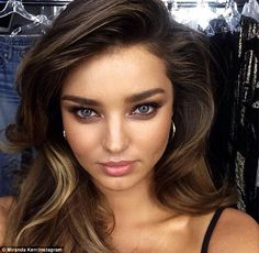 7th July 2014 Miranda sultry selfie: The 30 year old former Victoria's Secret model shared the final result of no doubt hours in the hair and make-up chair with fans.