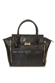 Winged Pushlock Tote