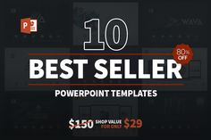10 Best Seller Powerpoint Bundle by @Graphicsauthor