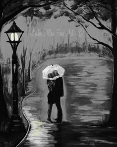 Couple In Love Couple Painting Couple by LeslieAllenFineArt