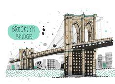 Brooklyn Bridge. New York.