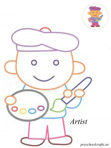 Artist coloring pages for kids