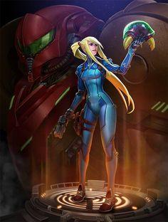 Samus Aran, Zero suit, Metroid series artwork by Rayph Beisner. Metroid Samus, Metroid Prime, Samus Aran, Chun Li, Video Game Characters, Fantasy Characters, Female Characters, Geeks, Viewtiful Joe