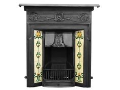 The Morris Cast Iron Combination Fireplace in Black by Carron, 42 Inch . Email us for price and delivery