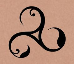This is the inspiration for the tattoo on my back.  The triskele, three spirals radiating from a common center - is one of the most popular, and ancient symbols of our time.  Because the triskele is often drawn using one continuous line, it has come to represent the unending and continuous movement of life. Its progress and flowing energy.  I love it.