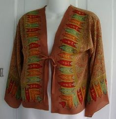 jacket made from a vintage scarf