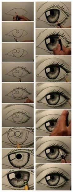 dibujo ojos drawing 3d eye