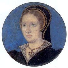 Portrait miniature de Katherine Parr, 1543 Lucas Horenboult, peinture officiel de la cour de Henry VIII