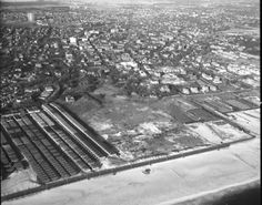 Aerial view of Far Rockaway, Queens, Photo from the Fairchild Aerial Survey's. Photo from the New York State Archives. Far Rockaway, Rockaway Beach, New York Pictures, Photo Essay, City Life, Aerial View, New York City, City Photo, Queens