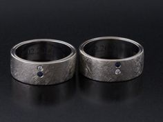 #Rings by #Bielak  white gold  #unique #wedding rings from #Poland  white diamond / #sapphire