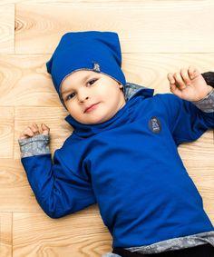Czapka Szafir Dwustronna     miapka, miapka design, czapka, boy, girl, baby, baby boy, baby girl