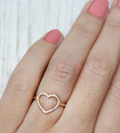 Beautiful heart shaped diamond ring from @sillyshiny. Shop Now.