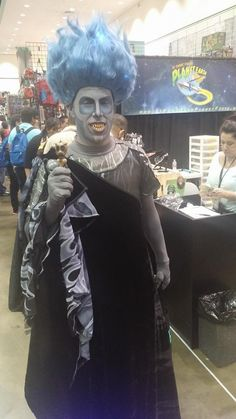 Disney Hades cosplay at our Comikaze Expo 2015 booth. www.itcamefromplanetearth.net