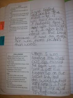 Reading Response Journals - Challenging/Too Hard Books