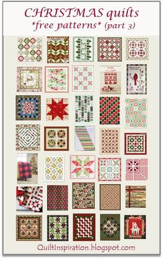 Free pattern day: Christmas quilts ! (part 3) at Quilt Inspiration